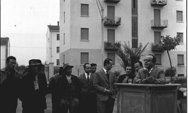 Promozione della Granarolo in piazza del popolo 1959